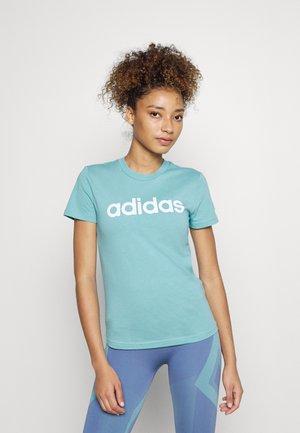T-shirt con stampa - mint ton/white