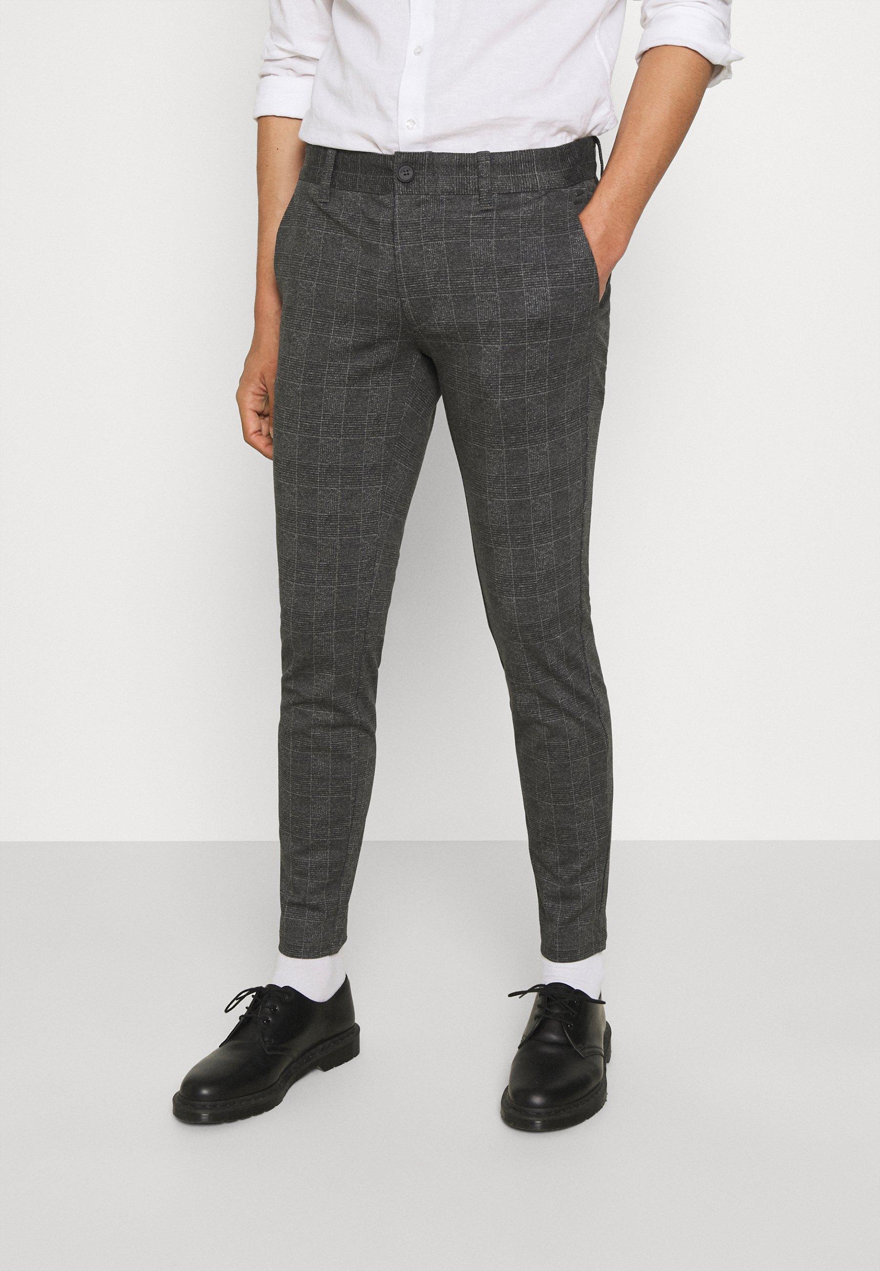 Homme ONSMARK CHECK PANTS - Pantalon classique