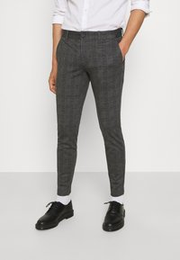 Only & Sons - ONSMARK CHECK PANTS - Trousers - black - 0