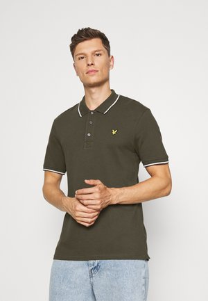TIPPED - Piké - olive/white