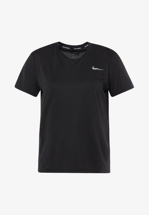 MILER - T-shirt con stampa - black/silver