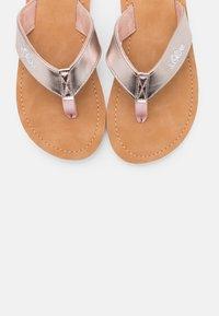 s.Oliver - SLIDES - T-bar sandals - rose gold metallic - 5
