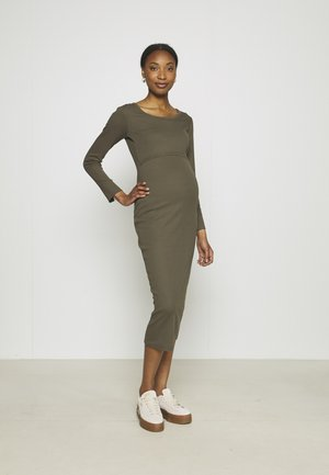 SIGNE DRESS - Jerseyjurk - pine green