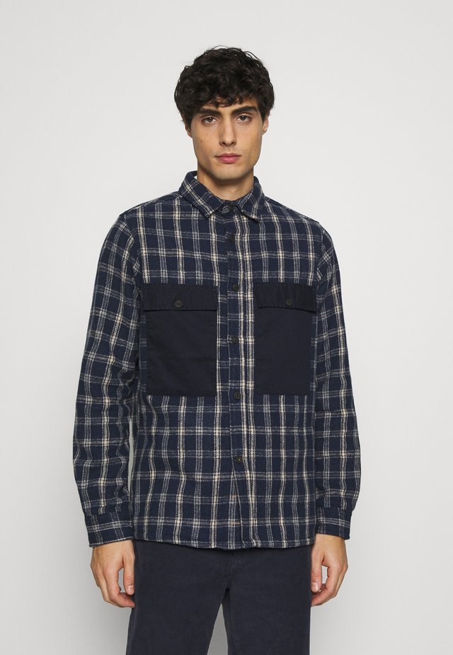 OLIVER CHECK - Camicia - navy