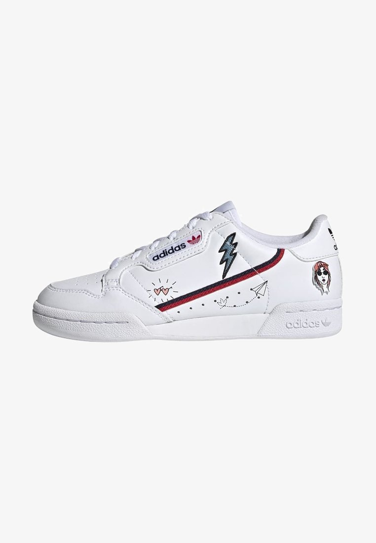 adidas Originals - CONTINENTAL 80 SHOES - Trainers - ftwr white/collegiate navy/scarlet