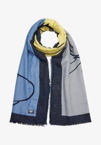 s.Oliver - LOONEY TUNES MIT GLITZER - Scarf - dark blue placed print - 1