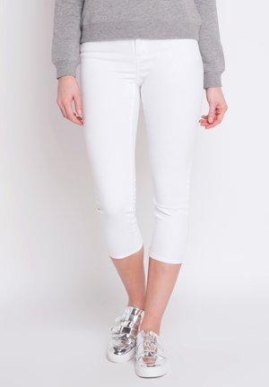 SCHLANKE EINFARBIGE BASIC-HOSE - Trousers - blanc