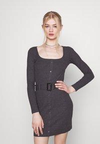 Even&Odd - Jumper dress - mottled dark grey - 3