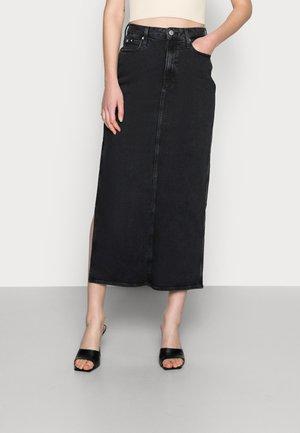 SKIRT - Jupe en jean - black
