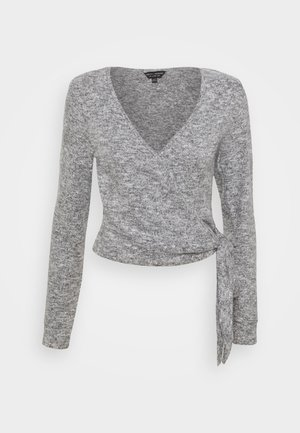 CREAM BRUSHED WRAP - Jumper - grey