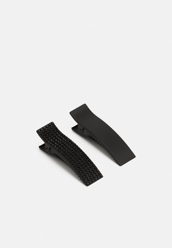HAIRCLIP CLEAN DECORATED 2 PACK - Hair styling accessory - black