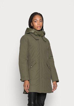 Down coat - dark khaki