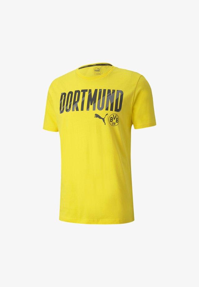BVB FTBLCORE WORDING - Club wear - cyber yellow-black