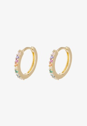 FINE RAINBOW HUGGIE HOOPS - Earrings - multi