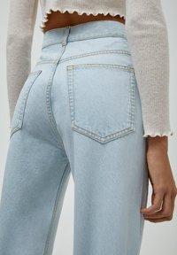 PULL&BEAR - Jeans Straight Leg - mottled dark blue - 5