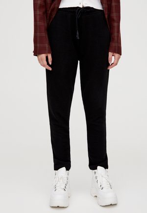 MIT GERADEM SAUM  - Teplákové kalhoty - black