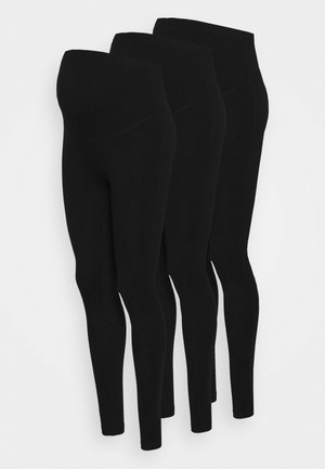 3 PACK - Leggings - black