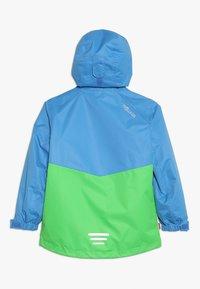 TrollKids - KIDS BRYGGEN JACKET UNISEX 2-IN-1 - Hardshell jacket - medium blue/bright green - 1