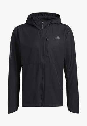 OWN THE RUN HOODED WINDBREAKER - Training jacket - black