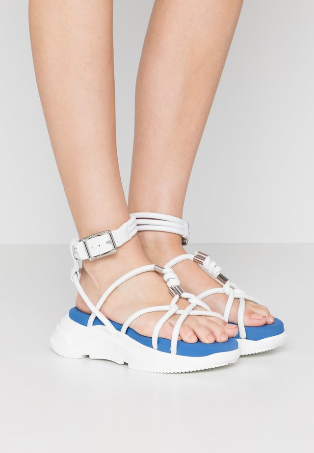 DIRETTA - Platform sandals - bianco