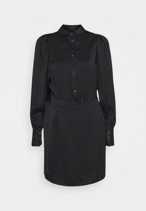 EMMY SHORT DRESS - Shirt dress - black