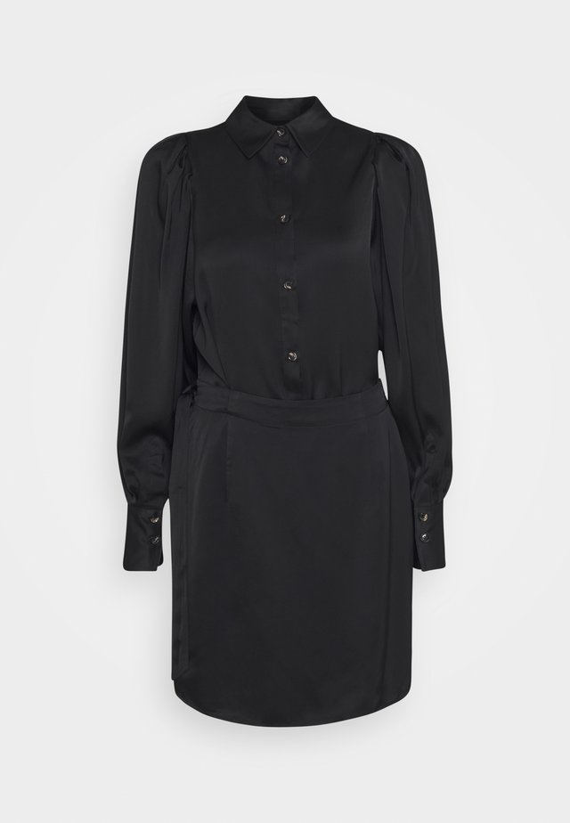 EMMY SHORT DRESS - Shirt dress - black