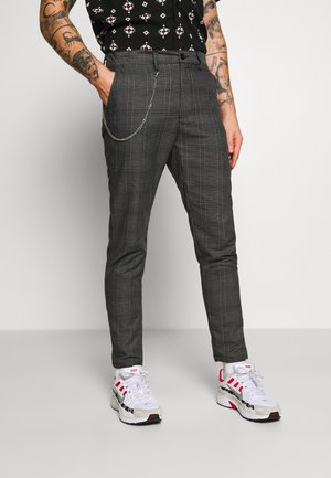 LEROY - Broek - black/red