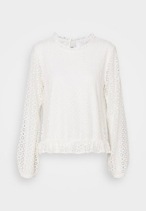 VIJANIA - Long sleeved top - cloud dancer