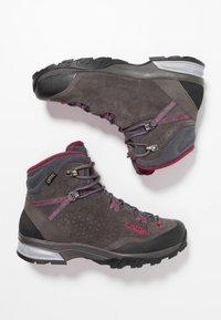 Lowa - SASSA GTX MID - Hiking shoes - anthrazit/fuchsia - 1