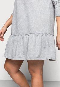 New Look Curves - DROP HEM DRESS - Denní šaty - grey niu - 4