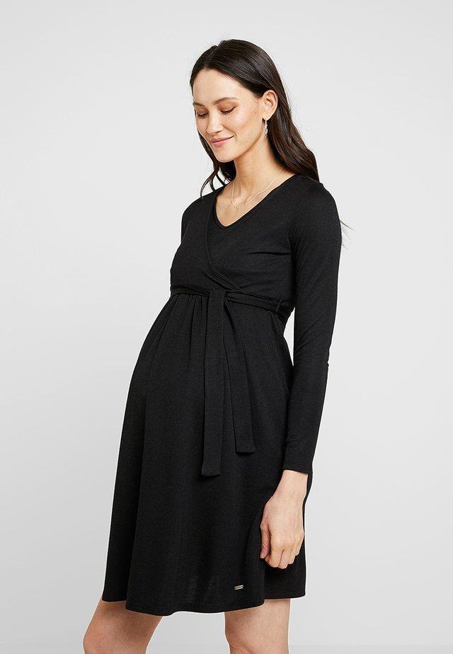 Sukienka z dżerseju - black onyx|black