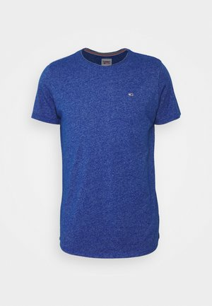 SLIM JASPE C NECK - T-shirts - blue