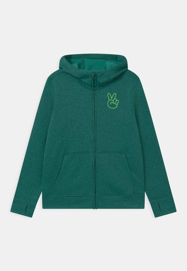 KIDS OAK FULL-ZIP HOODIE UNISEX - veste en sweat zippée - antique green heather