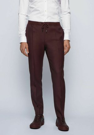ESP-BANKS - Trousers - dark red