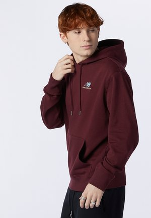 NB ESSENTIALS EMBROIDERED - Hoodie - red