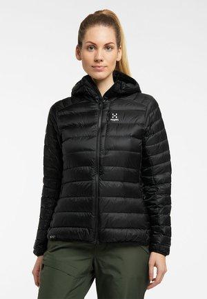 ROC DOWN HOOD - Down jacket - true black