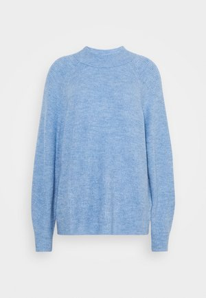 WAFFLE STITCH MOCK AIRY - Jersey de punto - chambray heather