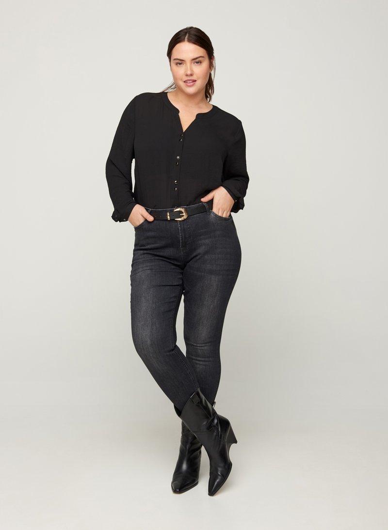 Zizzi - Slim fit jeans - grey