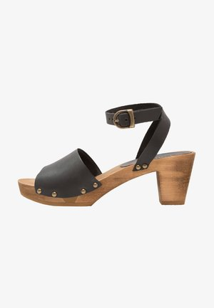 YARA SQUARE FLEX - Clogs - black