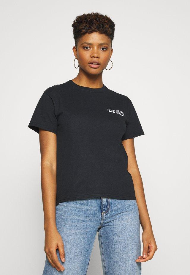 TROPICAL TROUBLE - T-shirt imprimé - black