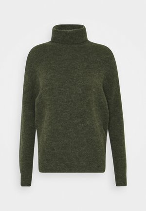 FEMME ROLL NECK PULLOVER - Strikkegenser - forrest night mel