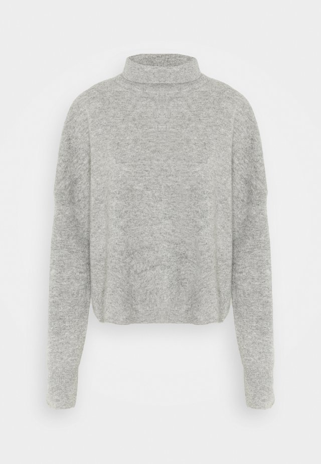 NOLA TURTLENECK - Sweter - grey melange