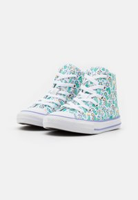 Converse - CHUCK TAYLOR ALL STAR FLORAL - High-top trainers - white/twilight pulse/citron pulse - 1