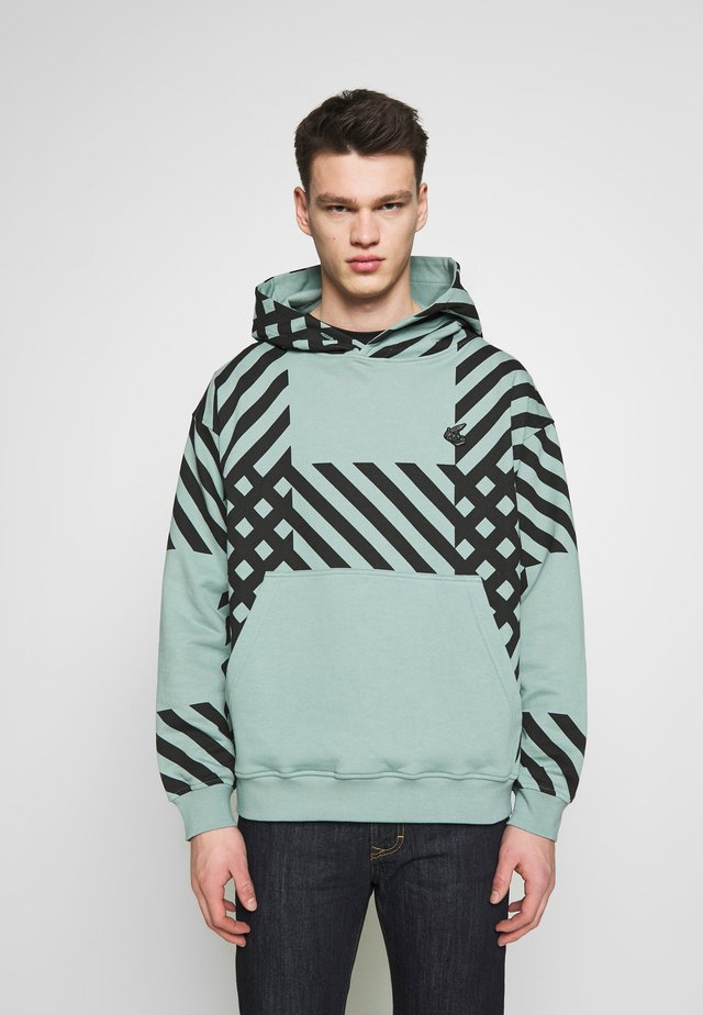 CRINI CHECK - Sweat à capuche - green