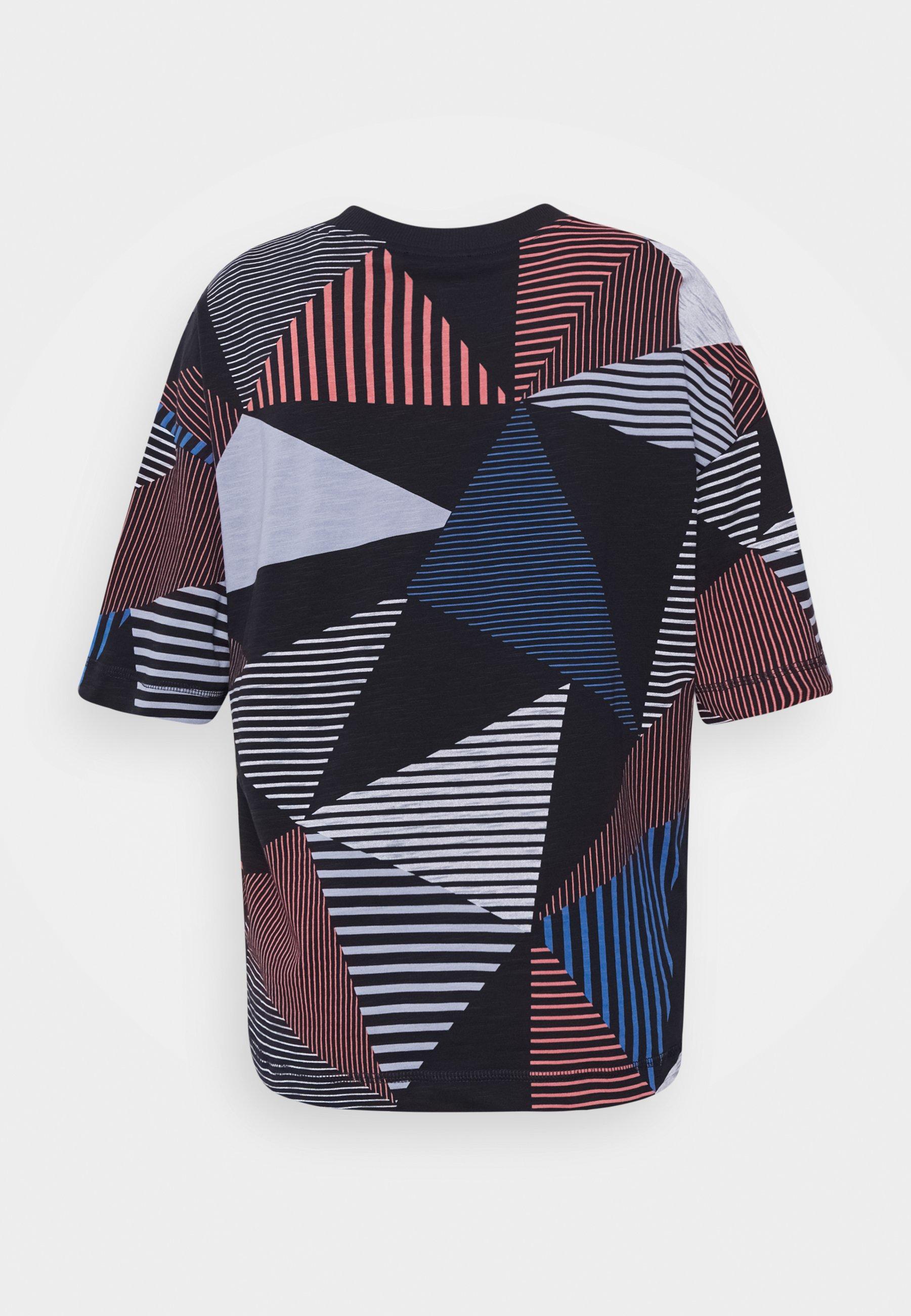 Edc By Esprit T-shirts Med Print - Dark Blue/mørkeblå
