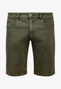 Redefined Rebel - MORTON - Denim shorts - dark olive - 3