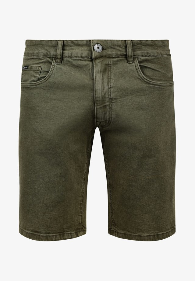 MORTON - Denim shorts - dark olive