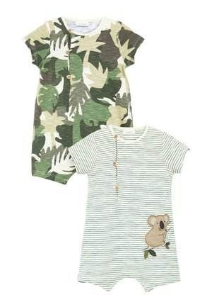 2 PACK ROMPERS WITH HAT - Overal - green