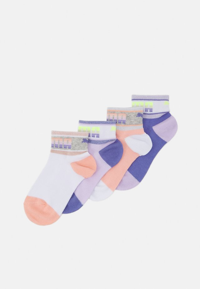 KIDS SEASONAL QUARTER 4 PACK UNISEX - Socks - white/light pink