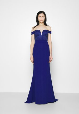 LOW PLUNGE NECK DRESS - Occasion wear - electric blue